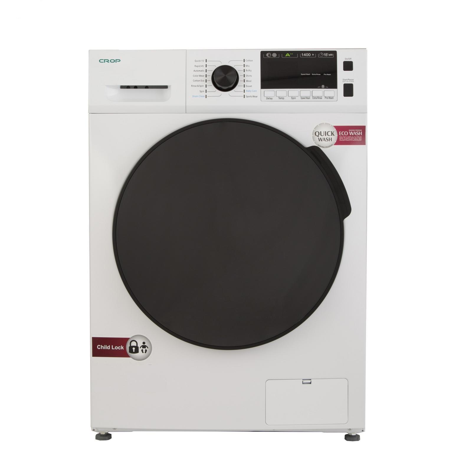 لباسشویی کروپ اتومات 7KG سفید درب کروم 1400دور  WFT-27417WT