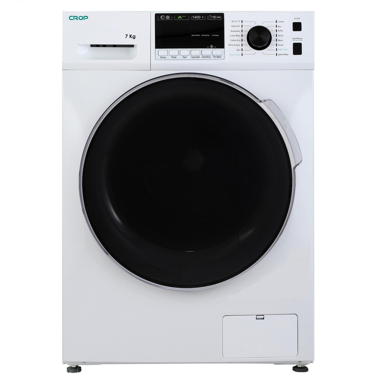 لباسشویی کروپ اتومات 7KG سفید درب کروم 1400دور WFT-27418WT